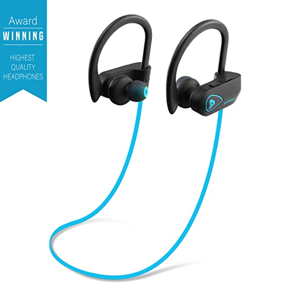 9942fa74c7f PrimeWire Powerbuds Bluetooth Earbuds, The Best Wireless Sports Earphones  w/ Mic IPX7 Waterproof HD