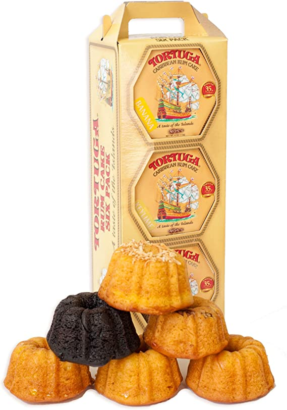 TORTUGA Caribbean Rum Cake Mix – 4 oz. - 6 Pack - The Perfect Premium Gourmet Gift