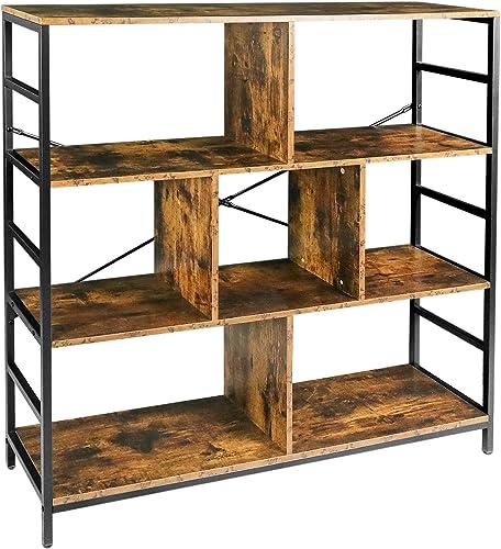 Lavievert 3-Tier Bookcase Free Standing Bookshelf Display Cabinet