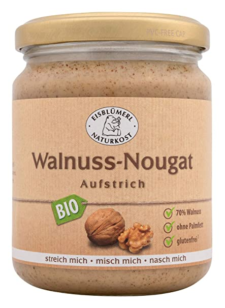 Nürnberger bio Originale walnussi Blanco – Nogal de nugat Krem bio Pan nussig untar, 1er