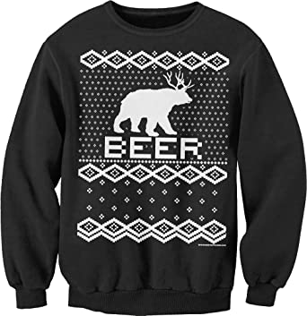 Amazon.com: Bear + Deer = BEER - Ugly Christmas Sweater Party ...