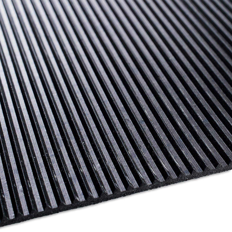 Vari modelli e Misure Industria 100x400cm Isolante grigio Design Millerighe Resistente Passatoia Antiscivolo in Gomma Rivestimento Pavimento Lavoro