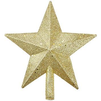 20 Cm Gold Glitter Weihnachtsbaum Topper Stern Topper Fur