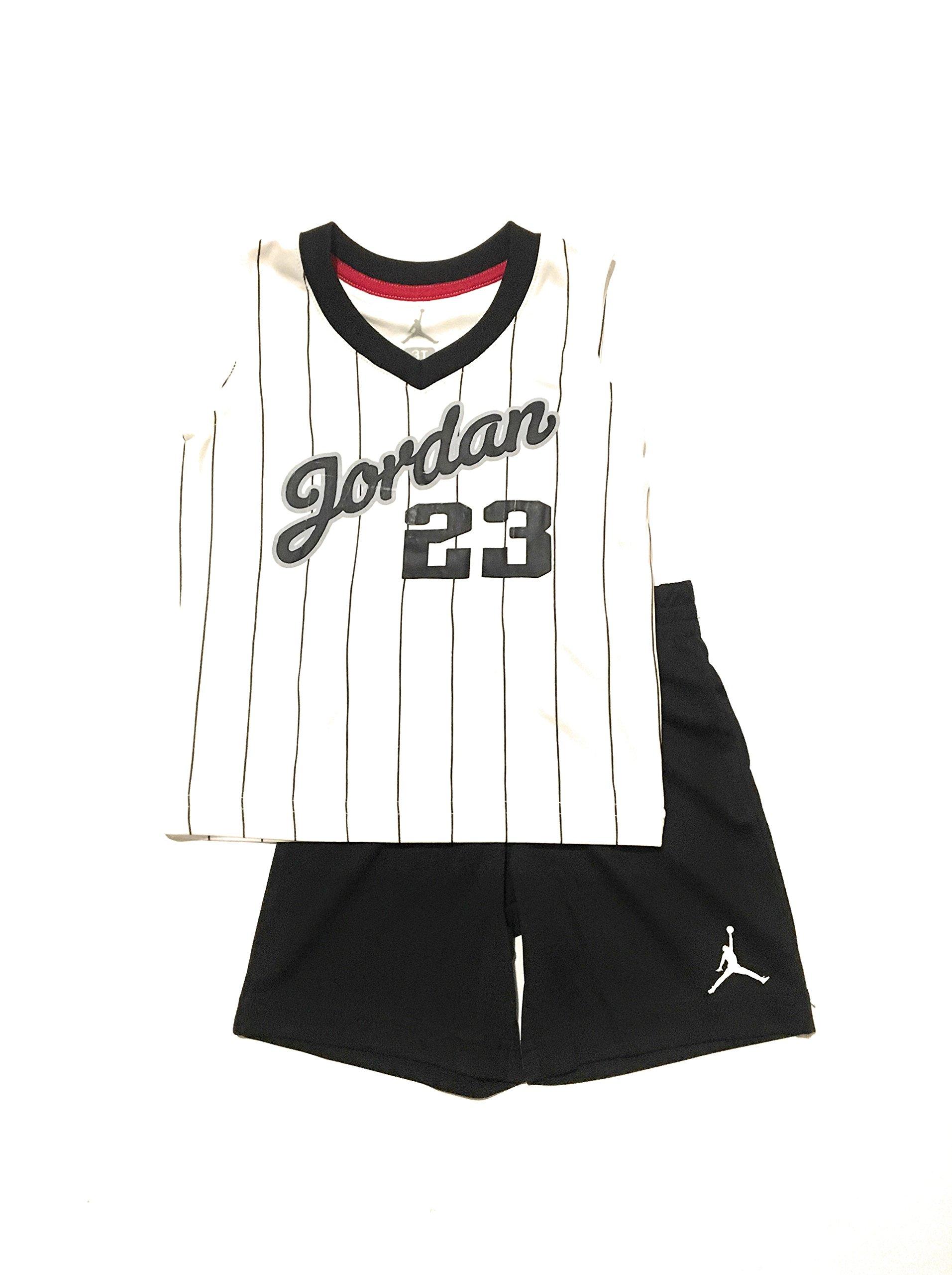 Jordan Toddler Boys Tank Top and Short Set White/Black 4T