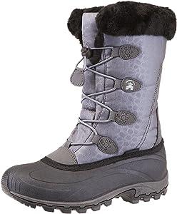 Columbia Women&39s Ice Maiden Ii Snow Boot Black Columbia Grey 5 B US