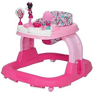 Disney Baby Ready, Set, Walk! 2.0 Developmental Walker, Minnie Bowtiful