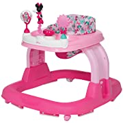 Disney Baby Ready, Set, Walk! 2.0 Developmental Walker, Minnie Bowtiful