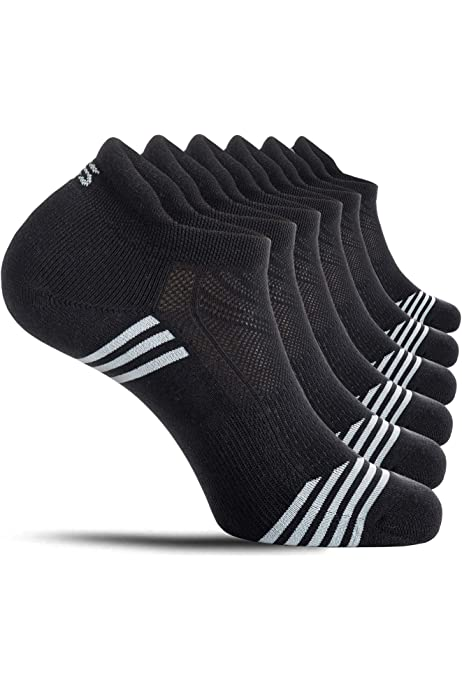 4 PAIRS MENS TRAINER SOCKS CUSHION SOLE SPORTS RUNNING DRIVING WORK GYM 6-11
