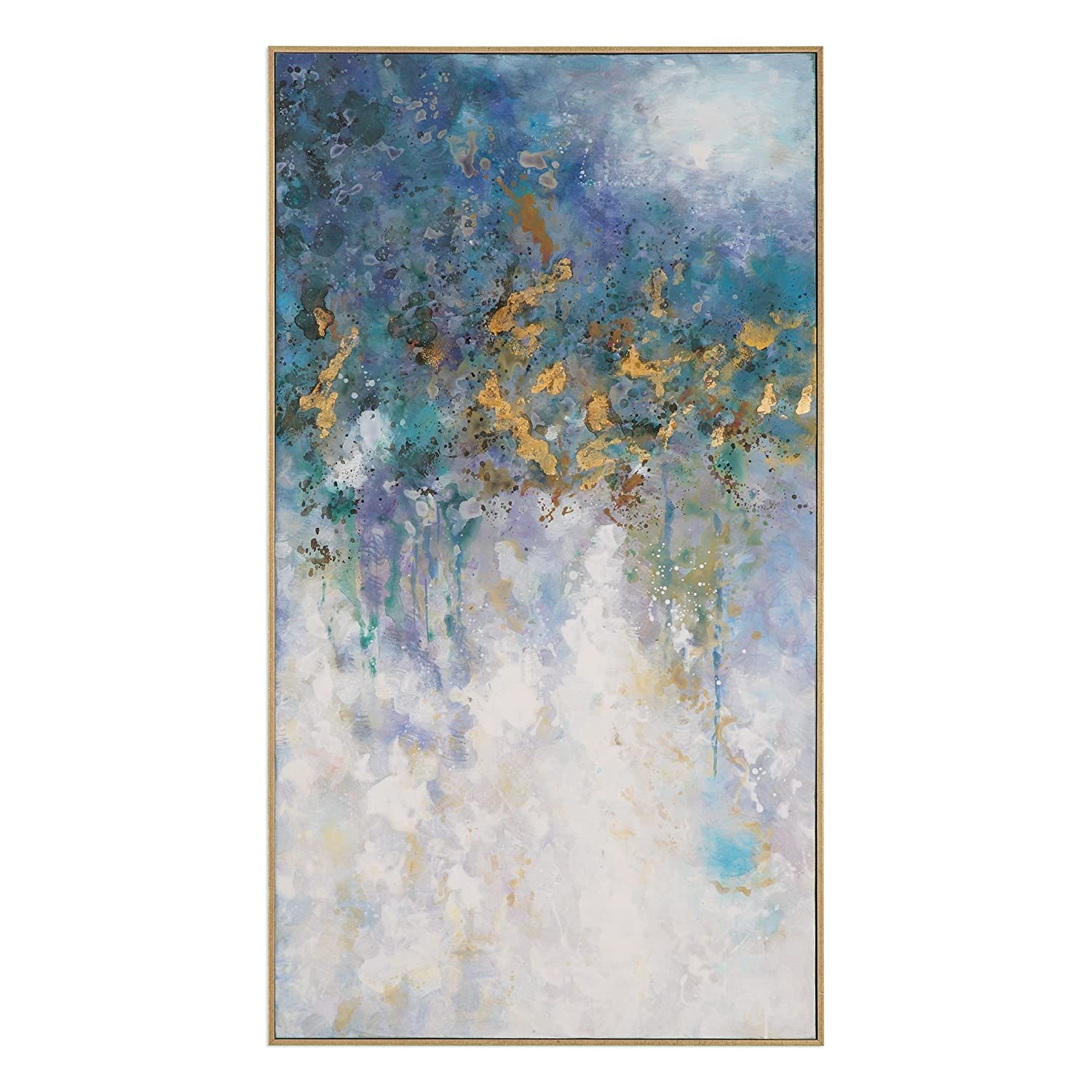 Amazon com oversize 53 abstract gold blue white wall art