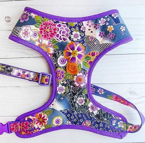 Amazon.com  Custom Handmade dog harness - Floral dog harness  Handmade 4aa59749aac2