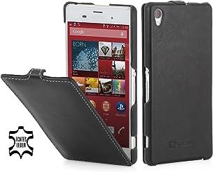 StilGut® UltraSlim Case, custodia in pelle per Sony Xperia Z3