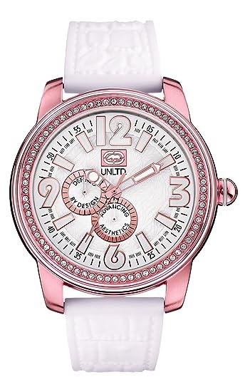 Marc Ecko 0 - Reloj de Cuarzo Unisex, con Correa de Resina, Color Blanco: Amazon.es: Relojes