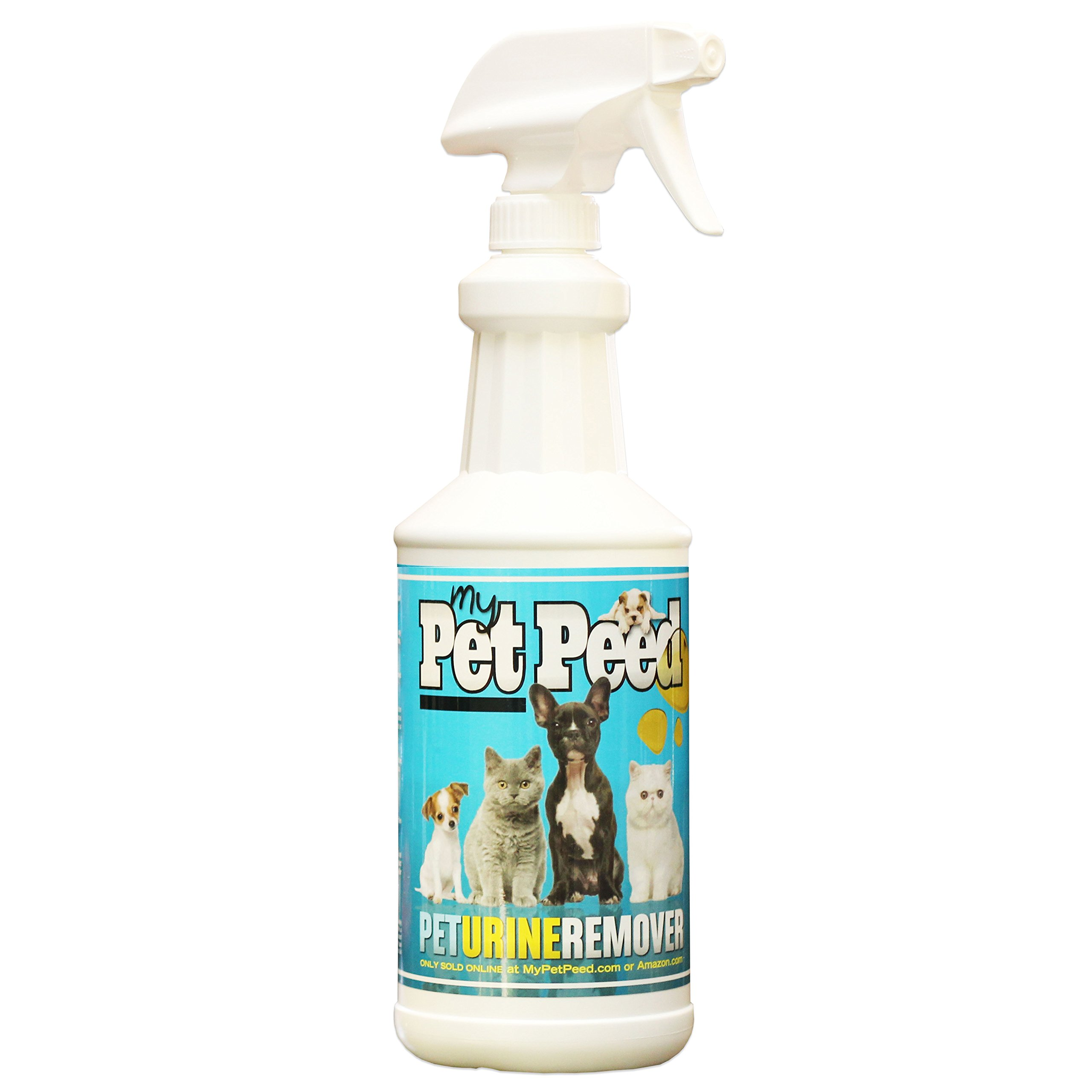 My Pet Peed - Pet Urine Remover (32oz Spray Bottle)GUARANTEED TO WORK OR YOUR (without the hassle of having to return anything) by My Pet Peed