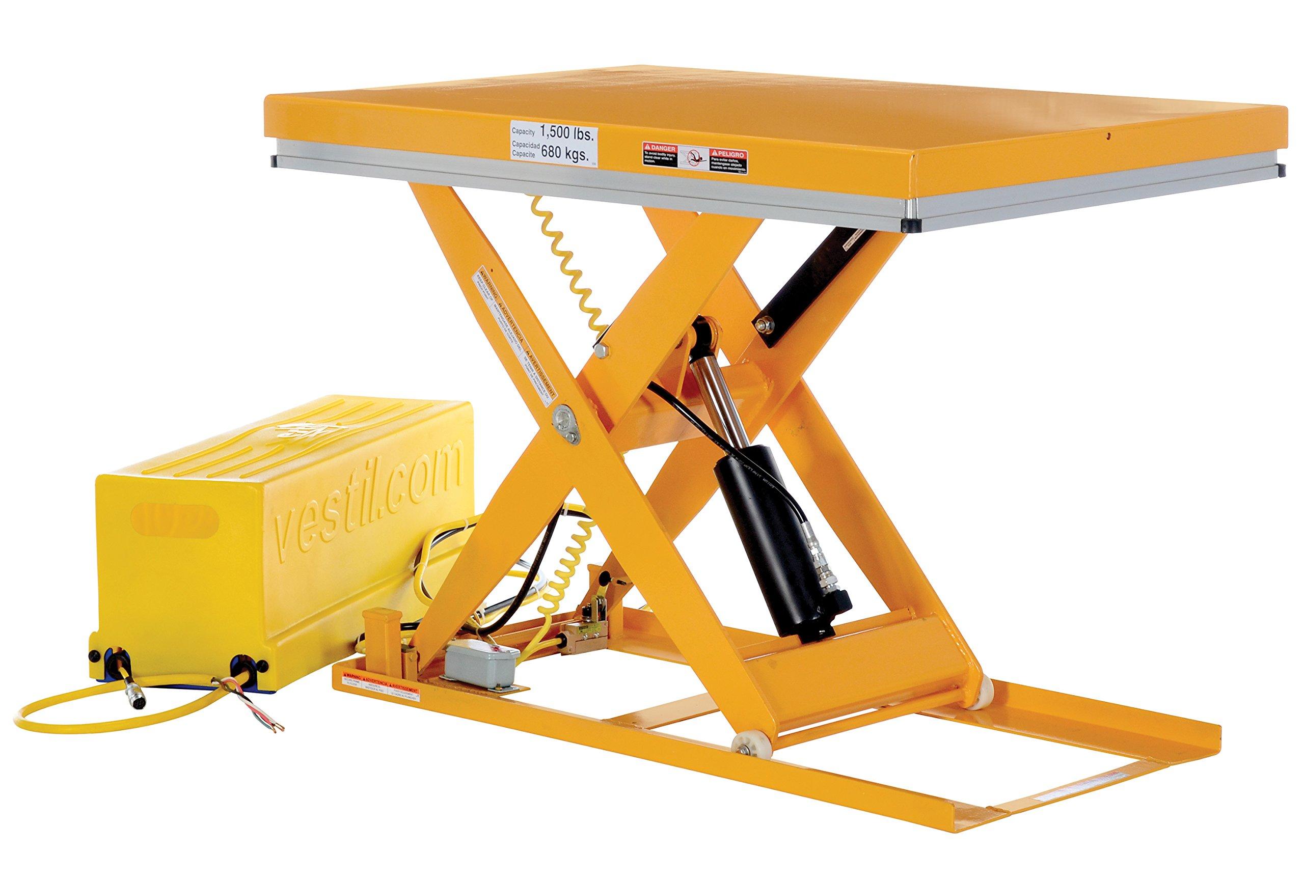 Vestil EHLT-WS-3248-1.5-36 Work Station Scissor Lift, 1500 lb., 7'' Height