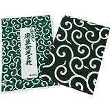 風呂敷(ふろしき) 伝統の柄・唐草風呂敷 (緑・二四巾:約90×90cm)