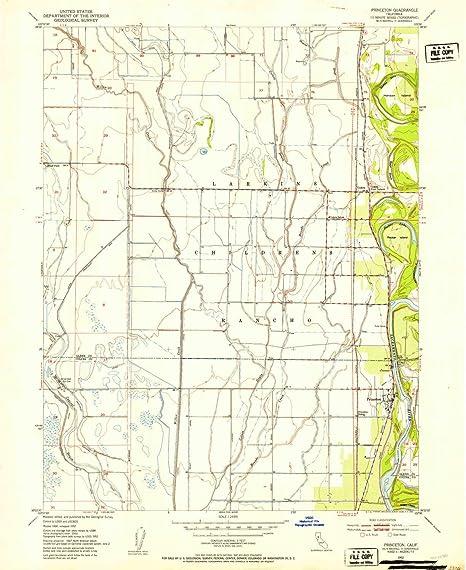 Princeton Nc Map.Amazon Com Yellowmaps Princeton Ca Topo Map 1 24000 Scale 7 5 X