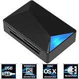 Sabrent Externe Kartenlesegeräte - USB 3.0 Superspeed 4-Slot-Speicherkartenleser für Windows, Mac und Linux - Unterstützt SD, SDHC, SDXC, MMC / MicroSD, T-Flash / MS, MS PRO Duo / CF und mehr (CR-BMC3)