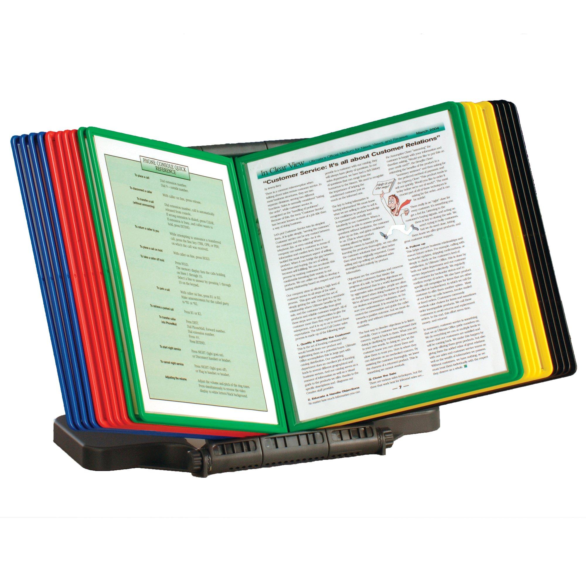 Ultimate Office AdjustaView 20-Pocket Desk Reference Organizer