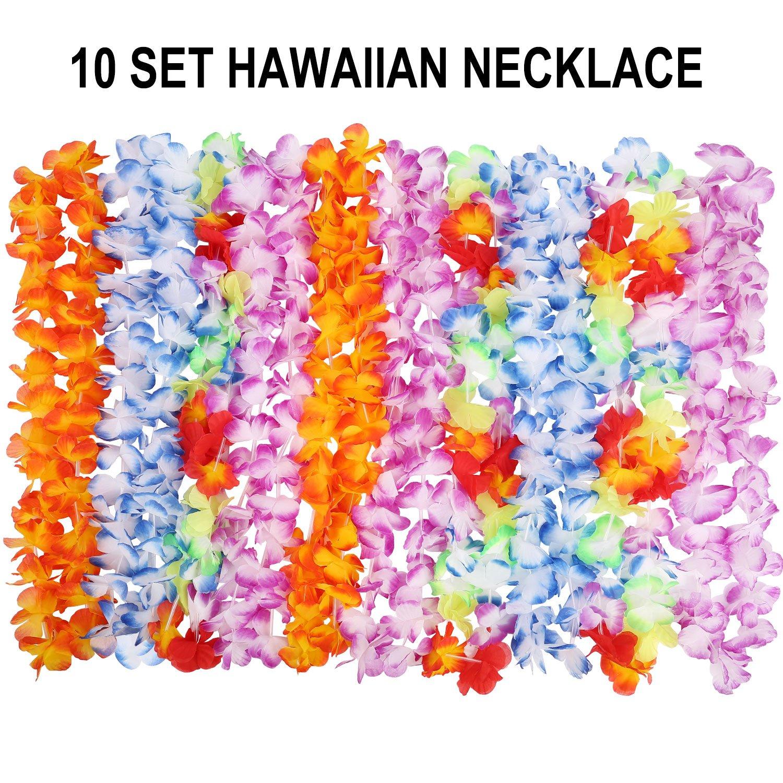 Amazon 40 Pcs Hawaiian Leis Luau Party Supplies Of Elastic