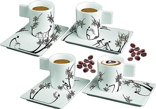 Deagourmet ORIGINI STESURA Juego de 2 Tazas de 2 Platos de caf/é