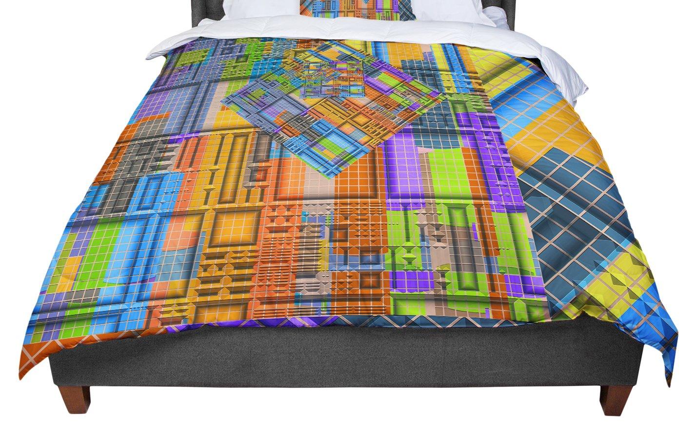 KESS InHouse Michael Sussna Tile Rep Abstract Queen Comforter 88 X 88