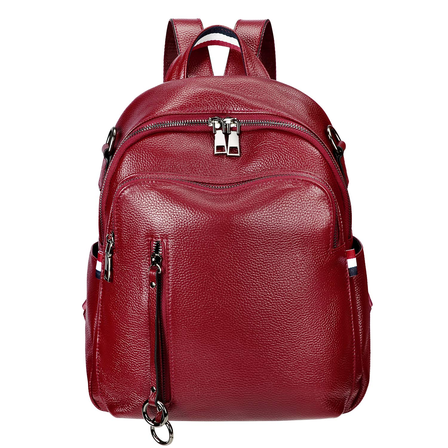 ALTOSY Fashion Genuine Leather Backpack Purse for Women Shoulder Bag Casual Daypack (S9, Red Wine) by ALTOSY