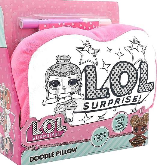 LOL Surprise! Mini Cojín A Colorear Munecas LOL Actividad Creativa para Niñas Almohada para Niña