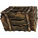 Halloween Haunters Animated Pirates Crate Box Chest, Screaming Beating Prop Decoration - Howls, Thumps, Lights Up - Battery Operated