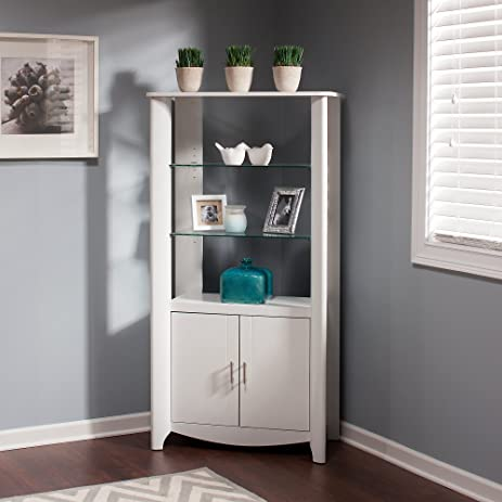 Amazon.com: Aero Tall Library Storage Cabinet with Doors: Kitchen ...