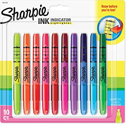 Sharpie 2021239 cincel punta de tinta Indicador Stick – Subrayadores fluorescentes surtidos (Pack de 10): Amazon.es: Oficina y papelería