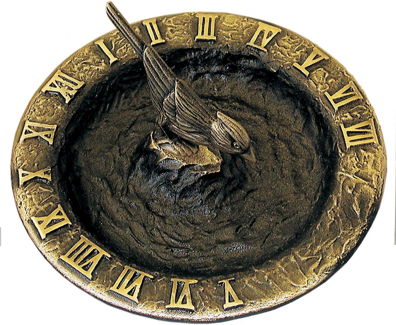 B00079PRWA Rome RM2322 Antique Brass Birdbath Sundial 810WqhGbr3L.SL1500_