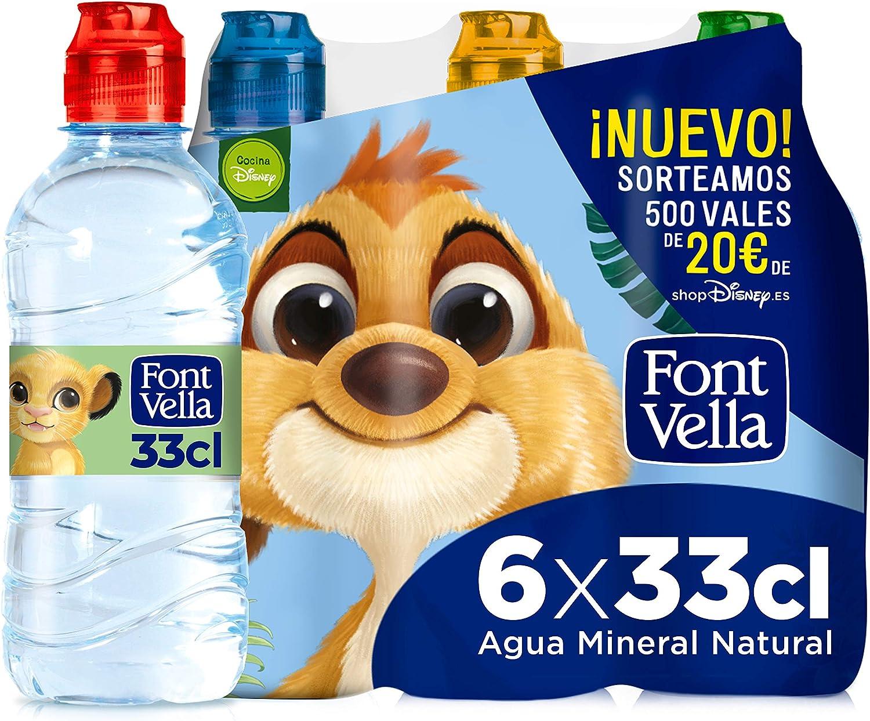 Font Vella, Agua Mineral con tapón infantil - Pack 6 x 33cl ...