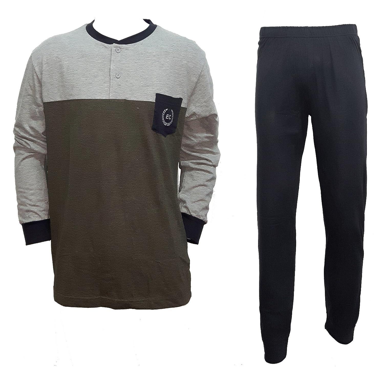 8032 M//48, antracite Enrico Coveri pigiama uomo manica lunga cotone nuova collezione art