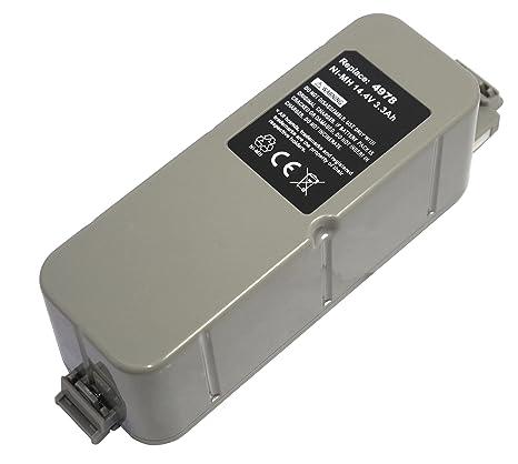 Power Smart® 14,40 V NiMH 3300 mAh Batería para Aspiradora iRobot Roomba,