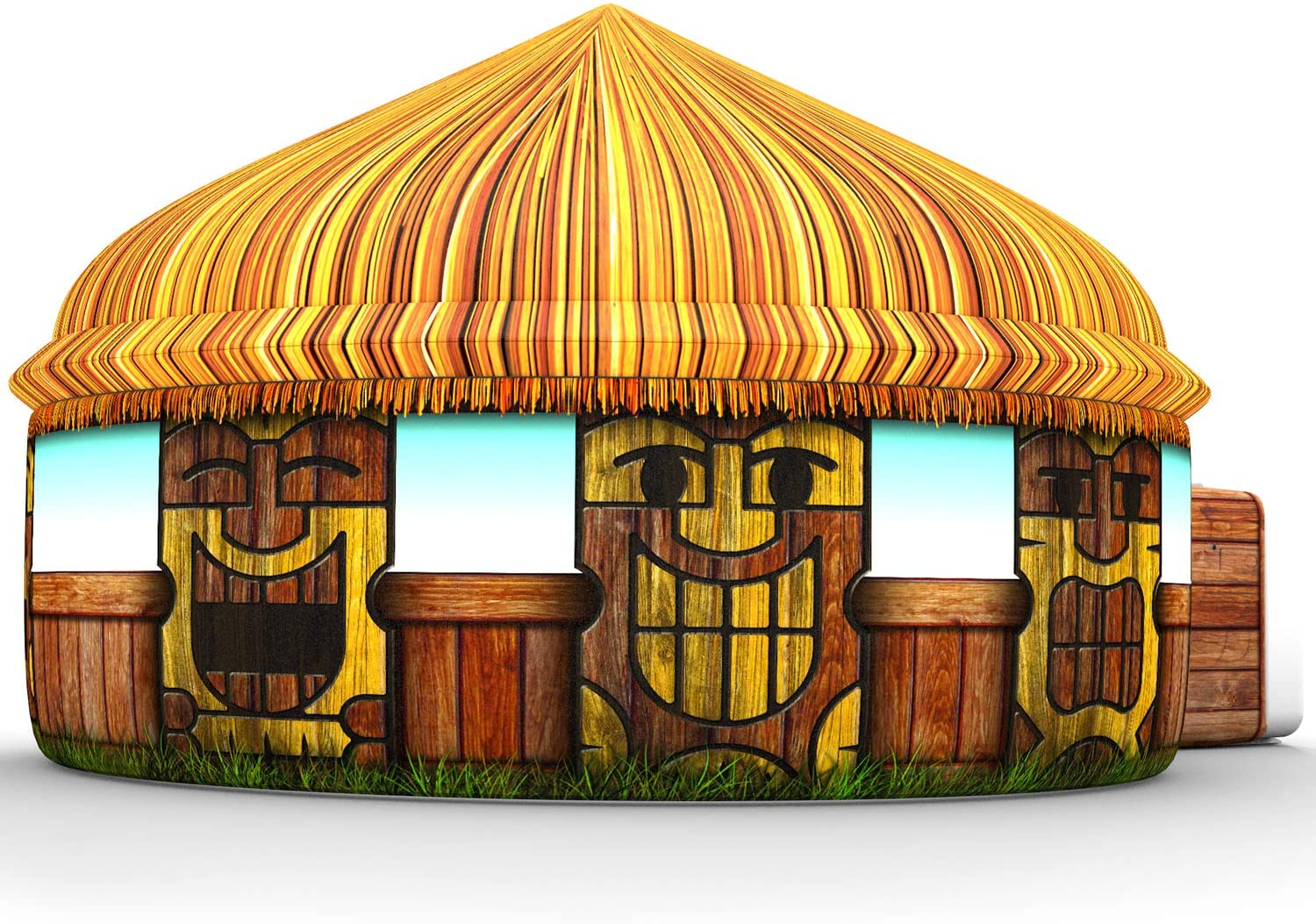 The Original AirFort Build A Fort in 30 Seconds, Inflatable Fort for Kids (Tiki Hut)