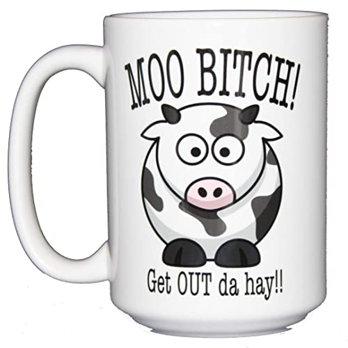 amazon moo bitch get out da hay funny cow coffee mug humor Net Wrap moo bitch get out da hay funny cow coffee mug humor
