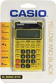 Calculadora Portátil, Visor 8 Dígitos e Alimentação Dupla, Casio, SL-300NC, Amarela