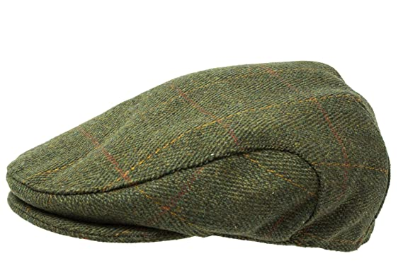 cf6a24a275a Tweed Flat Cap - Premium Scottish Tweed - Teflon Coated - Farmers Shooting  Hunting Equestrian Outdoors Country Check  Amazon.co.uk  Clothing