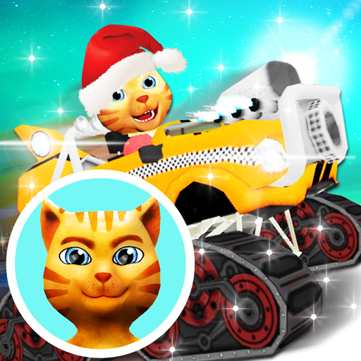 Cat Race Car Snow Drift Stunts - Race Snow