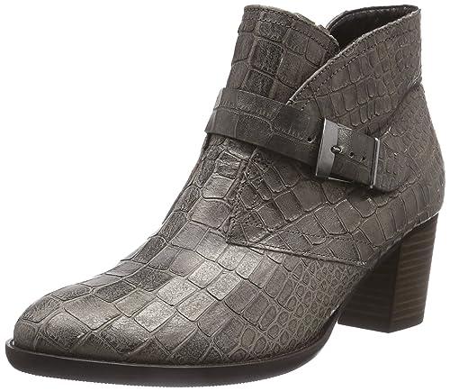 Gabor Shoes Comfort Fashion - Botines de piel lisa mujer, gris - Grau (fango (Micro) 85), 38: Amazon.es: Zapatos y complementos