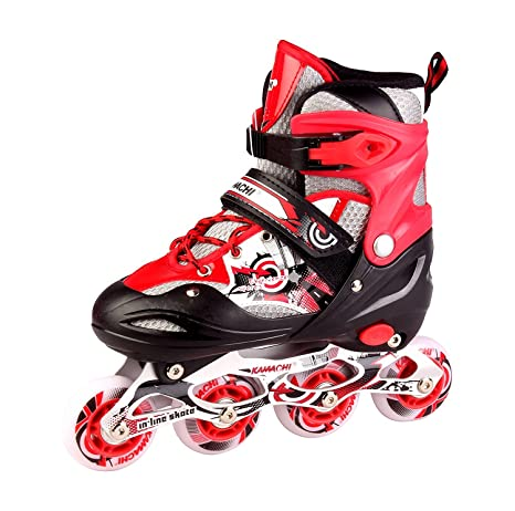 b12ea1cf9d7 Buy Kamachi Kws 906 Inline Skates, Small (Red) Online at Low Prices ...