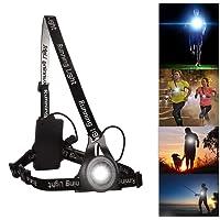 Éclairage de poitrine pour course Rechargeable USB,BraceTek Lampe poitrine pour Course 3 mode d'éclairage Fort-Faible-clignotant,A une lumière rouge sur le dos avec la sécurité,génial pour se promener ou faire du sport la nuit