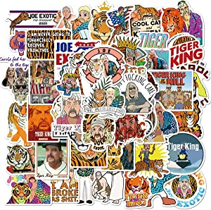 The Documentary Tiger King Stickers 50Pcs Variety Vinyl Waterproof Car Sticker Motorcycle Bicycle Luggage Decal Graffiti Patches Skateboard Stickers for Laptop Stickers (Tiger King)