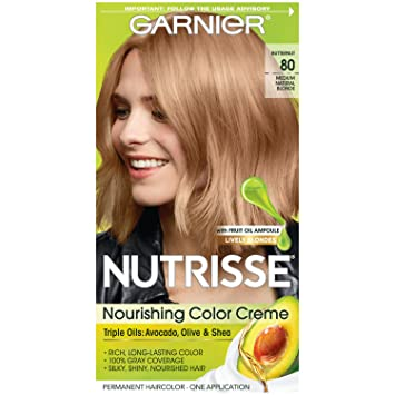 Amazoncom Garnier Nutrisse Nourishing Hair Color Creme 80 Medium