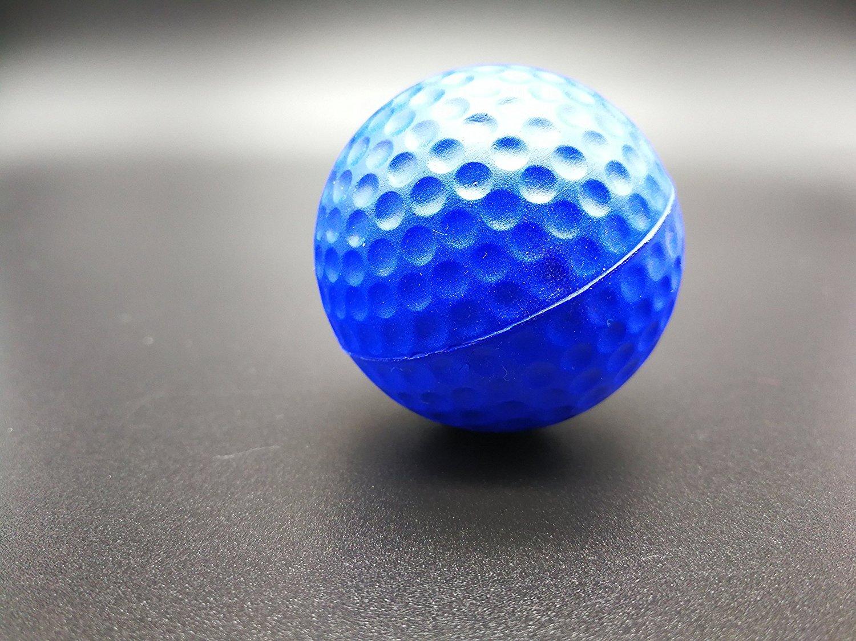 POSMA PB010AUS Golf PU Practice Balls soft balls golf training 24 Count, Blue by POSMA (Image #5)