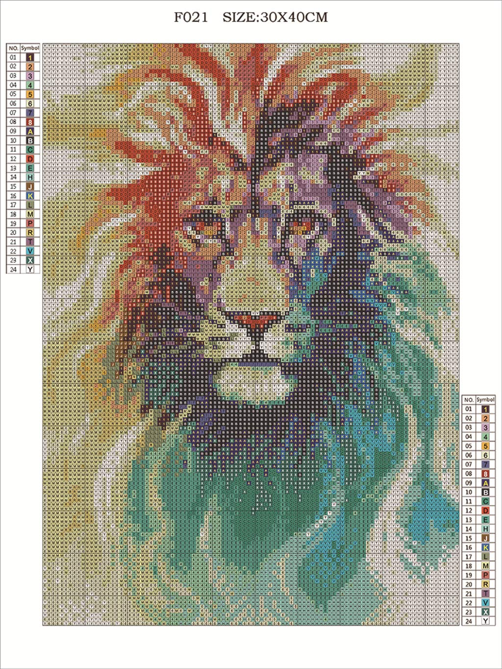 Full Square Diamond Angry Lion Embroidery Rhinestone Cross Stitch Arts Craft Supply for Home Wall Decor DIY 5D Diamond Painting Kit