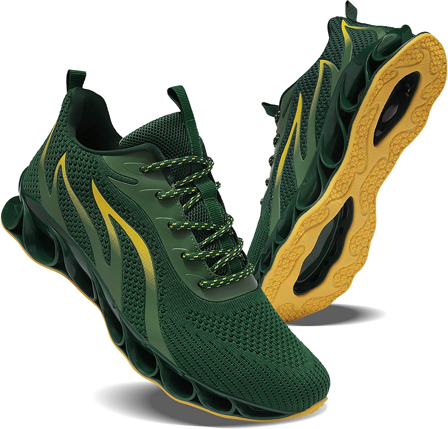 Hiking Shoes Mens mesh Sports Off-Road Outdoor shoes-green-41