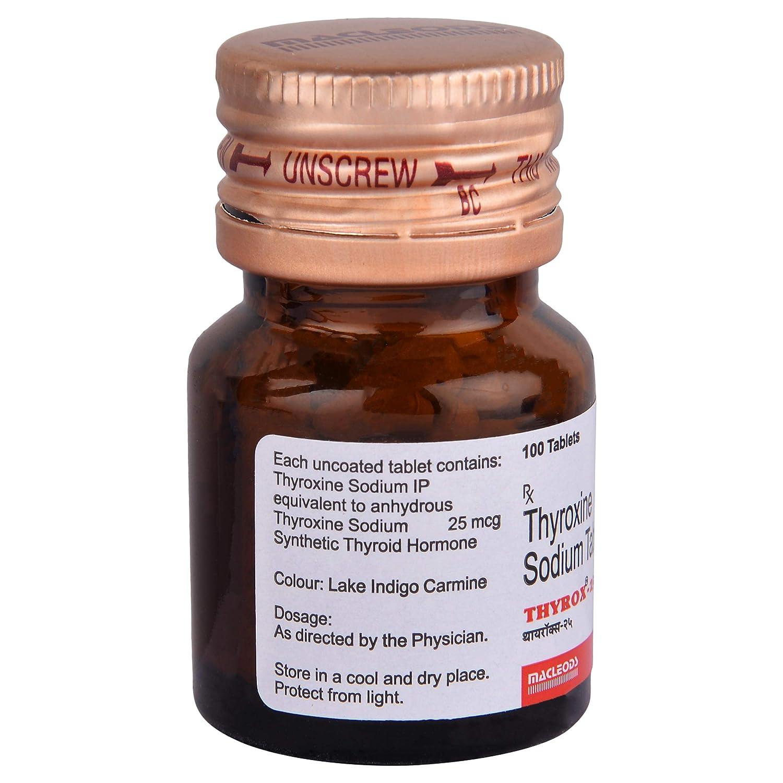 Thyrox 25 Bottle Of 100 Tablets Amazon In