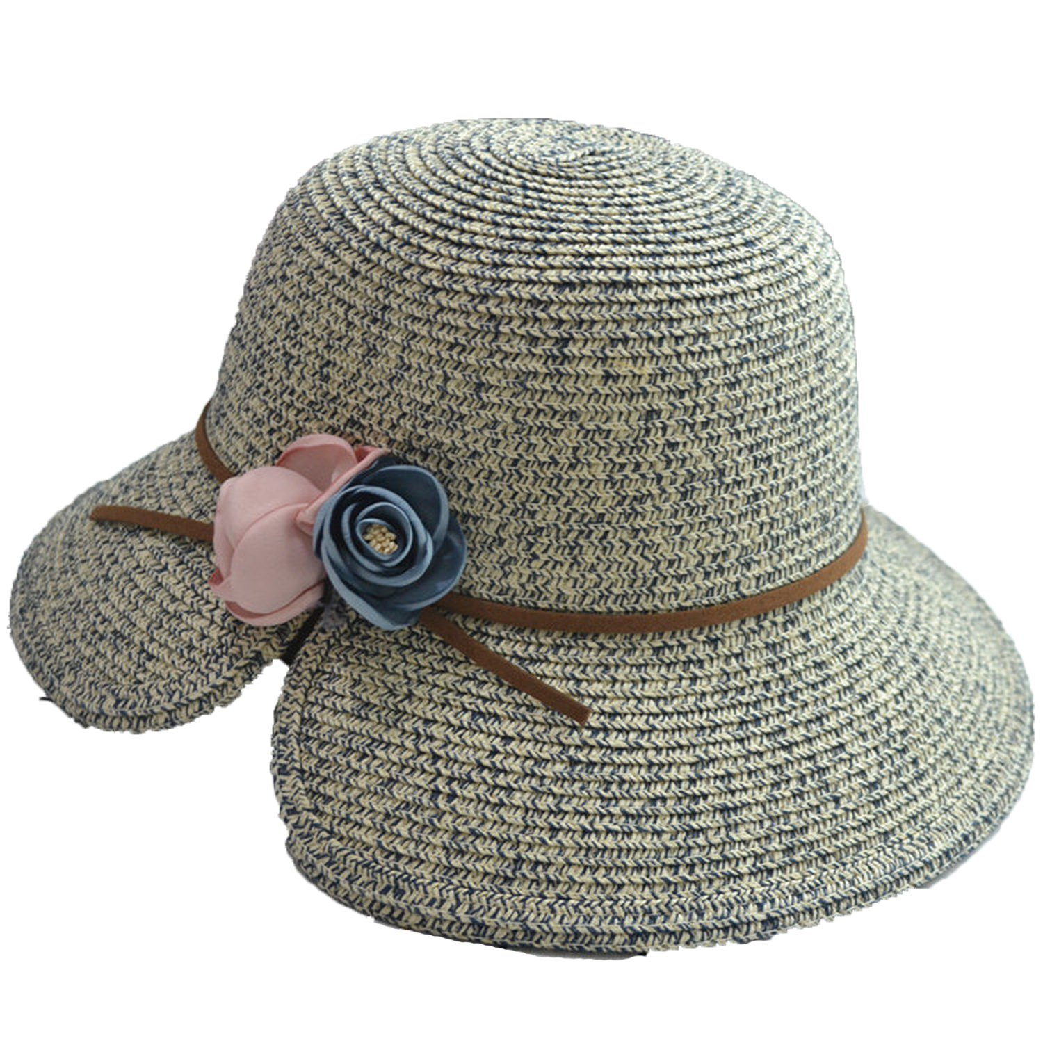 Attack Parenting Straw Hat Flowers Gap Fisherman Hat Leather Rope Sun Hat 7fb6d0c5412