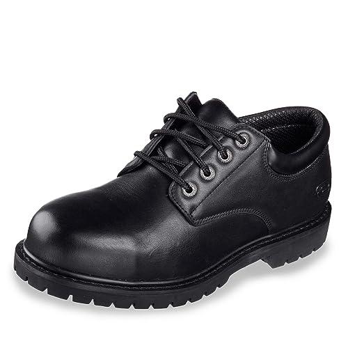 Shoes 77041ec Elks Work Cottonwood Black Skechers Amazon es 8xHq5Ax